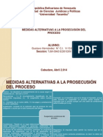 Medidas Alternativas a la Prosecución  del Proceso
