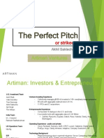Artiman Ventures Reviews the Perfect Pitch or Strike Out - Akhil Saklecha