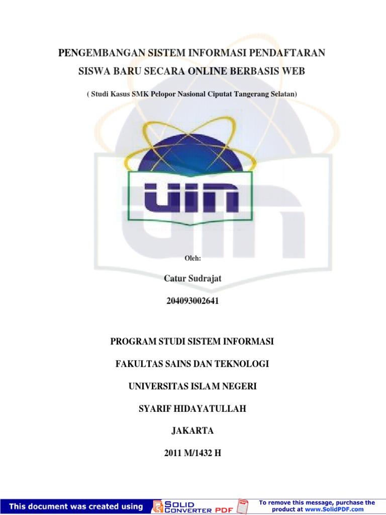 Skripsi sistem informasi pendaftaran siswa online ccuart Choice Image
