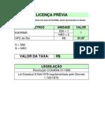 Taxas Da Secretaria Municipal Do Meio Ambiente