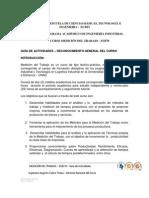 1 Guia Reconocimiento General Del Curso - Medicion Del Trabajo OK