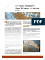 Patologias associadas à excessiva absorção de água de blocos cerâmicos -Intervalo Cerâmico_edição 22