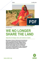 We No Longer Share the Land: Agricultural change, land, and violence in Darfur