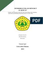 Tujuan Pendidikan Islam Menurut Al-Quran
