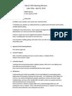 April 8th HOA Meeting Minutes