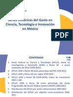 Series Históricas del Gasto en Ciencia, Tecnología e Innovación en México