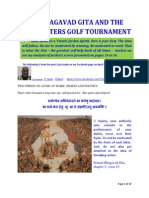 The Bhagavad Gita and the 2014 Masters Golf Tournament