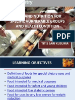 5. Food and Nutrition for Specific Vurnerable Groups