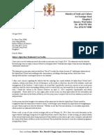 Minister Lisa Hanna's Letter to Alpha
