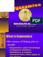 Ergonomics-occupational heath and safety