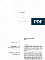 Robins. Apéndice.Historia de la lingüística  (1)
