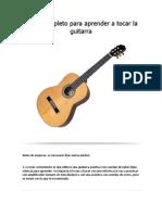 Curso Completo Para Aprender a Tocar La Guitarra