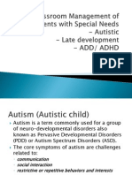 Classroom Management of Students With Special Needs