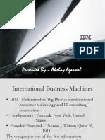 Company Analysis-By Akshay Agarwal (IBM)