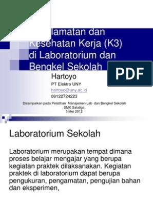 K3 Di Lab Bengkel Sekolah
