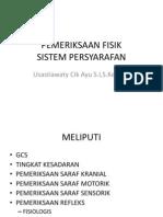 Pemeriksaan Fisik Sistem Saraf
