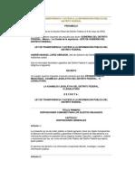 Ley de Transparencia y Acceso a La I P Del DF