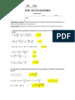 Guía  de ecuaciones  diferenciado