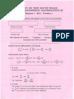 MATH2019 Test 1 Solutions