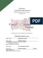 Critical Finance Studies Programme Cfsc v 130812