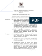 KMK No. 312 Ttg Daftar Obat Esensial Nasional 2013