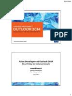 アジア開発銀行駐日代表事務所セミナー「アジア経済見通し(ADO)2014年版」(2014年4月15日)