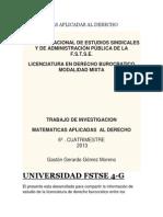 Matematicas Aplicadas Al Derecho