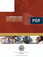 State Department Oral Assessment Study Guide