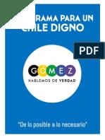 Resume n Program a Para Un Chile Dig No