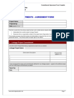 Commitments-Agreement Form Template
