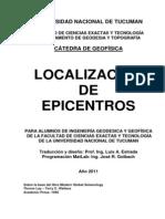 Localizacion de Epicentros