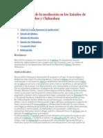 Comparativo de la mediación en los Estados de México