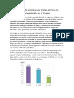 Proyectos de generación de energía eléctrica no convencionales en el Ecuador