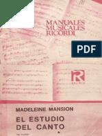 Mansion Madelaine- El Estudio Del Canto
