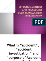 Effective Methods and Procedures Used in an Accident Investigation