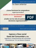 Ingreso y clase social Comportamiento económico