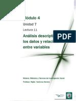 Lectura 4- Análisis de datos y relaciones entre variables