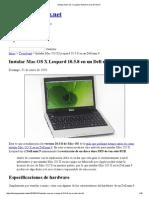 Instalar Mac OS X Leopard 10.5