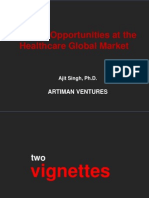 Artiman Ventures - Industry Opportunities at the Healthcare Global Market