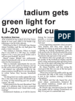 AMI Stadium Gets Green Light for U-20 World Cup (The Star, March 12, 2014)