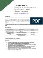 Aparna Desikan_Resume