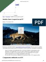 Instalar Snow Leopard en Un PC