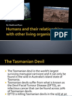 humans and their relationships with other living organisms weebly