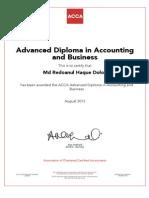 Redoan Certificate