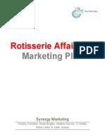 Rotisserie Affair Deli Marketing Plan