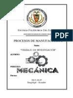 comparacion de procesos de fundicion y procesos de manufactura