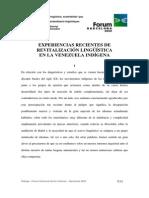 Mosonyi y Pocaterra 2004 - Experiencias recientes de revitalización lingüística en la Venezuela indígena