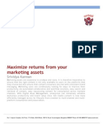 Maximize Return From Marketing Assets