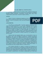 Caso Baylon- Despido Nulo-Criterios de Procedibilidad de Las Demandas de Amparo en Materia Laboral