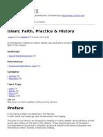 Islam- Faith, Practice & History